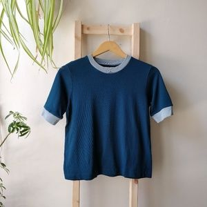 NWT Madewell Cotton Relaxed Ringer Tee